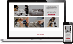 Responsive website animal medical centre malta flowr agency