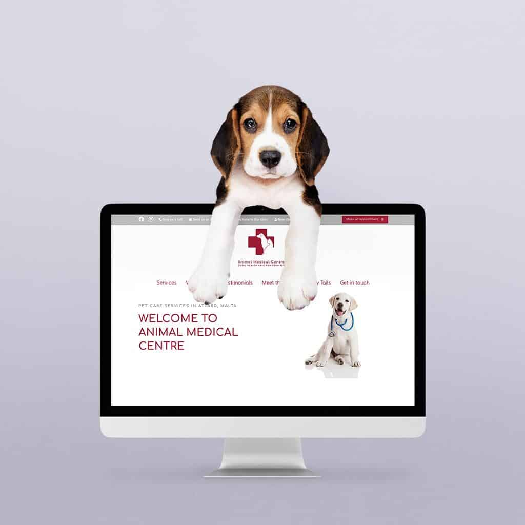 Website redesign of Animal Medical Centre Malta by Flowr Agency
